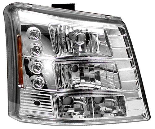 IPCW CWS-337VC Chevrolet Silverado 2003-2006 Head Lamps, Diamond Cut 1Pc. With Bumper Lights Chrome B006BURE3Y