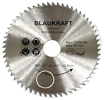 Lame de scie pour MEULEUSE 125mm pour bois Disque de coupe circulaire  125x22x60T 8d56e6f511b8