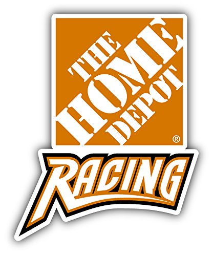 Home Depot Nascar Racing Car Bumper Sticker Decal 4'' x 5'' (Home Depot Decals)