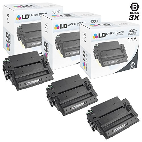 LD Compatible Toner Cartridge Replacement for HP 11A Q6511A (Black, 3-Pack)