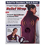 New! Thermapulse Relief Wrap In Burgundy Extra-Long Massaging Heat Wrap