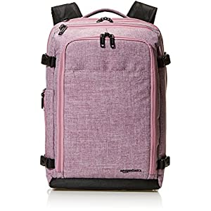 Amazon Basics Slim Carry On Laptop Travel Weekender Backpack – Purple