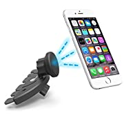 Amazon Lightning Deal 89% claimed: 1byone CD Slot Magnetic Universal Rotatable Car Mount Holder for iPhone 6s, 6s plus, 6, 6 plus, 5s, 5c, Samsung Galaxy, HTC One M7, M8, M9, Tablets and More Smartphones, Black