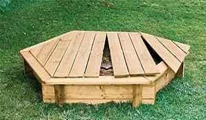 Arena de caja de madera en el diámetro de 180cm para el jardín con tapa/cubierta de madera