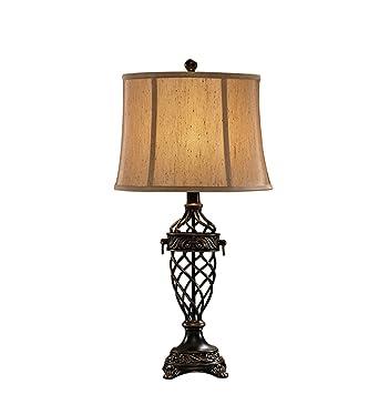 The Harvest Season  Amerikanischen Eisen Tischlampen Luxus Schlafzimmer  Studie Auge Uhr Schreibtisch Lampen Europäischen Wohnzimmer