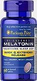 Puritan's Pride Bi-Layered Melatonin 5 mg -60 Tablets