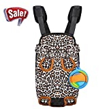 Pet Carrier Backpack for Small Dog Cat Puppy - Tail Out Front Chest Carrier Bag for Travel Outdoor Walking Hiking Cycling Camping - Wide Straps with Comfort Shoulder Pads Bonus Foldable Water Bowl