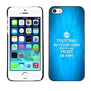 DREAMCASE Bible Quotes Hard Bumper Back Protection Case Cover For Apple IPHONE 5 / 5S - TRUST IN HIM