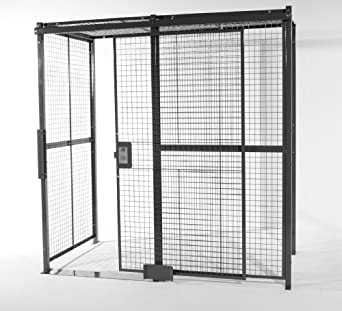Delicieux WireCrafters A1010104WC Welded Wire Mesh 4 Sided Cage With 5u0027 Sliding Door  And Ceiling,