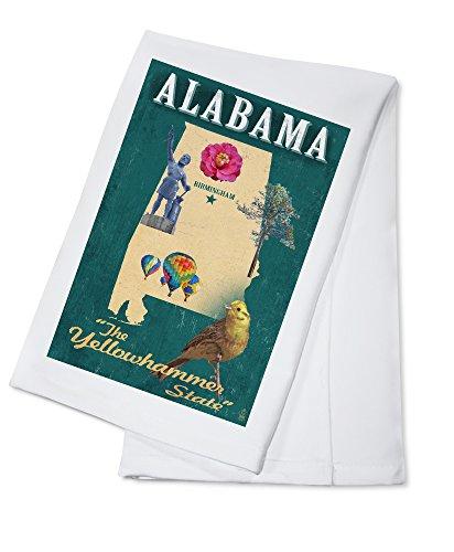 (Birmingham, Alabama - State Icons (100% Cotton Kitchen Towel))