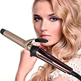 universal anti tip bracket - YIHANGG Universal Curling Wand Curling Iron With Tourmaline Ceramic Coating Hair Curler With Anti-scalding Tip Fast Heat Up 250-410°F 100-240V