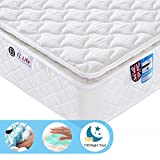 Ej. Life 4FT6 Double 9-Zone Memory Foam Mattress with Pocket Springs - Orthopaedic Mattress - 10.6-Inch