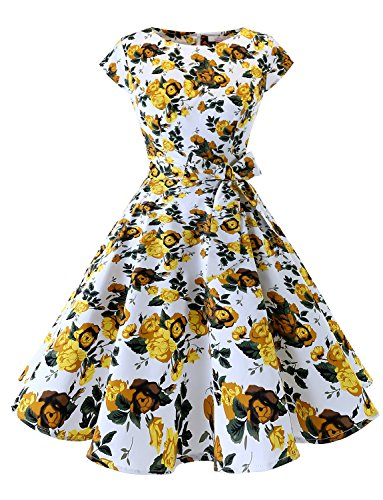 Dressystar Women Vintage 1950s Retro Rockabilly Prom Dresses