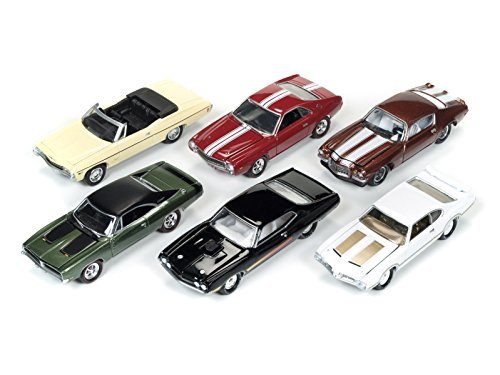 Muscle Cars USA 2017 Set of 6 cars Release D 1/64 by Johnny Lightning JLMC003-D