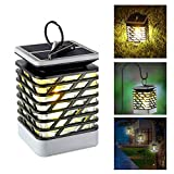 Leegoal Solar Outdoor Lights Hanging, IP55 Waterproof 75 LED Solar Lanterns with Dancing Flame Effect for Garden Patio Umbrella Lamp Tree Pool Pavilion Lawn Porch Decor (Warm Light, Pack of 1)