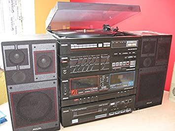 PHILIPS estéreo-Audio-HiFi Regal-completamente-sistema ...