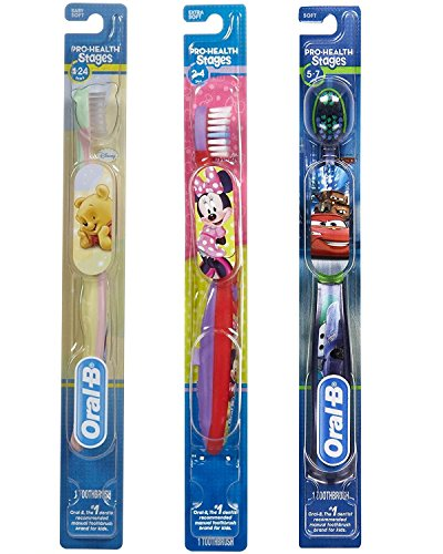 Oral B Pro-Health Stages 1, 2 and 3 Set for Babies & Kids, Minnie Mouse/Cars