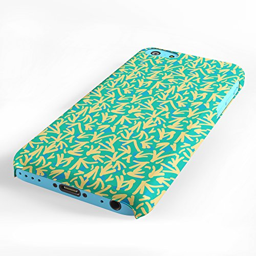 Koveru Back Cover Case for Apple iPhone 5C - Green Yellow Ethy