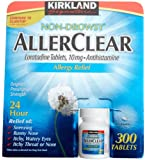 Kirkland Non-Drowsy AllerClear Lortadine Tablets, (10 mg) Antihistamine, 300-Count Tablets