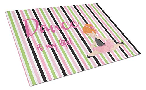 Caroline's Treasures Ballet Dance Is My Life Red Glass Cutting Board Large, Multicolor by Caroline's Treasures (Image #1)