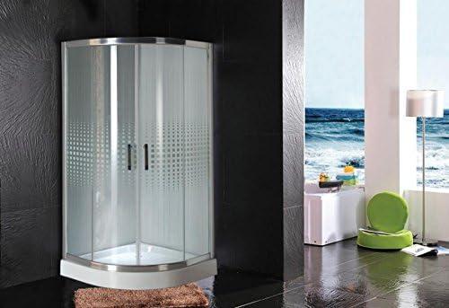 Mampara de baño 90 x 90 x 195 con plato de ducha: Amazon.es: Jardín