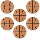 "6 Pack of Mini Basketballs - 2.5"" Bouncing Ball Toys for Mini Hoops, Sport Games, & Party Favors! Dribble-Friendly Bouncy Squish Balls by Pudgy Pedro's Party Supplies"