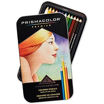 Amazon.com : Prismacolor Premier Colored Pencils, Soft Core, 12 ...