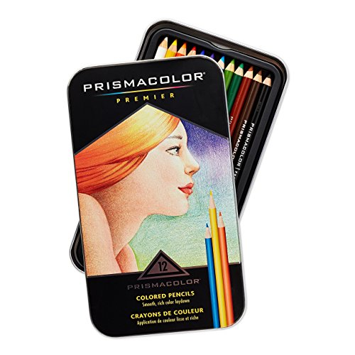 Prismacolor 3596T Premier Colored Pencils  Soft Core  12 Count