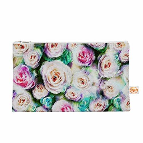 Kess eigene 12,5x 21,6cm Dawid Roc Bright Rose Abstrakt Alles-Tasche, Grün Floral