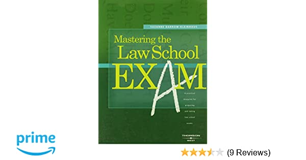 mastering the law school exam career guides suzanne darrow