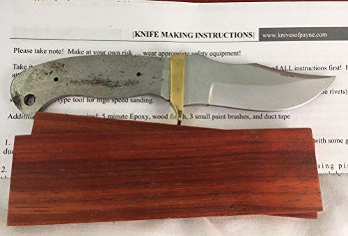 6.75 inch SM CLIP POINT knife kit (PADAUK)