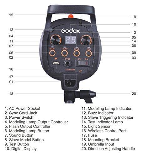 Godox QT600 600W Fast Speed Photography Studio Strobe Flash Light Head 110V by Godox (Image #8)