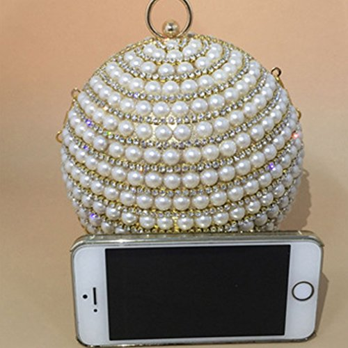 Women's luxury Bags Rhinestone Bead Clutch Gold Thenice ball flash Wedding Evening 7Bw1d1fxq