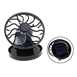 5105nhNZjAL. SS300  - Itemap Mini Portable Clip-On Solar Panel Powered Cooling Fan for Travel Camping Fishing