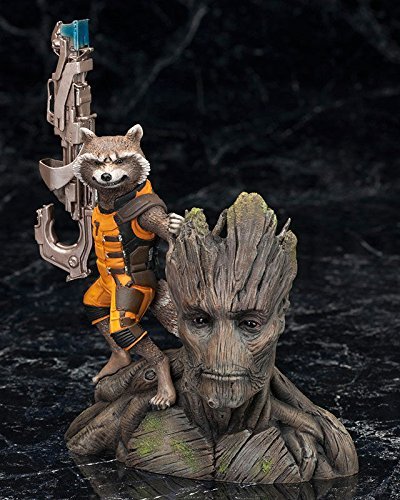 Collectible toy figurine Groot and Rocket Raccoon Guardians of the Galaxy - Action Figure size 5.51 inch