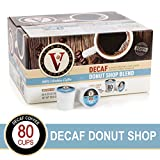Decaf Donut Shop Blend for K-Cup Keurig 2.0 Brewers, 80 Count, Victor Allen's Coffee Medium Roast Single Serve Coffee Pods