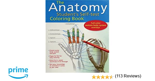 Grays Anatomy Coloring Book : The anatomy students self test coloring book: 9780764137778