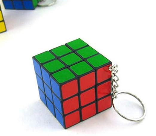 Gwanna Mejor Regalo Colgante de Encanto Mini Cubo Llavero ...