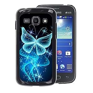 A-type Arte & diseño plástico duro Fundas Cover Cubre Hard Case Cover para Samsung Galaxy Ace 3 (Butterfly Bling Glitter Shiny Diamond)