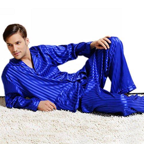 mas Set Sleepwear Loungewear Invy M (Man Striped Pajamas)