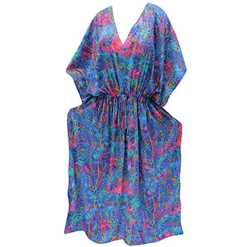 La Leela Women S Nightgown Caftan Plus Size Hd Designer Drawstring