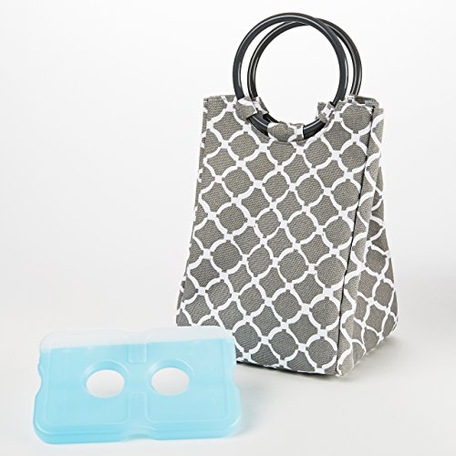 fit-fresh-retro-insulated-lunch-bag-with-reusable-ice-pack-gray-round-tile-gray