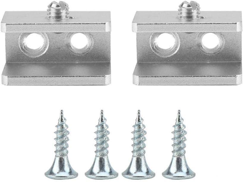 Garosa 2 Unids Soporte de Estante de Vidrio Espacio Aluminio Soporte de la Abrazadera de Vidrio Clip de Fijaci/ón de la Ventana Soporte de Arco Impermeable Ligero 8mm-10mm