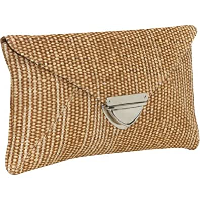 Earth Axxessories Straw Clutch - brown
