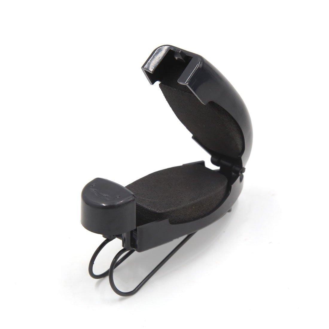 uxcell a17041200ux0892 4 Pcs Black Car Sun Visor Clip Holder for Reading Glasses Sunglasses Eyeglass 4 Pack