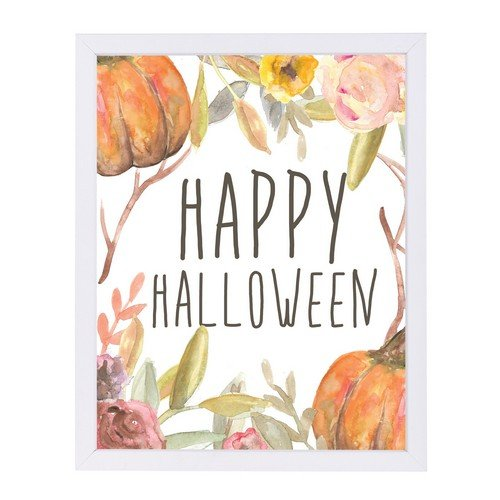 Americanflat Happy Halloween Festive White Frame Print by Jetty Printables 9