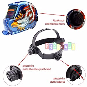 Pro Solar Auto Darkening Welding Helmet Arc Tig Mig Mask Grinding Welder Mask B : Green