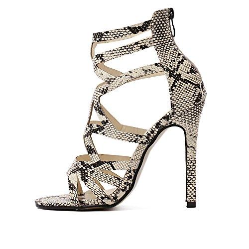 YMXJB Mode très bien avec les femmes talons creux sandales de style romain