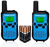 Image of Walkie Talkies for kids ROGER RADIOS w/ Alkaline Batteries included. 3 Miles, 22 Channels. Plain English Instructions. Durable two way 2-way for children boys and girls.