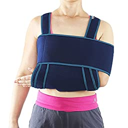 Medical Arm Sling - Yookat Medical Arm Sling with Shoulder Immobilizer, Comfortable Padding Support, Ergonomic Adjustable Strap, Suitable for Male, Female and Children (M)